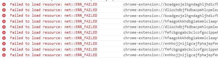 Google Chrome: Some of Developer Console